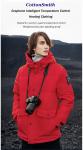 77 € са купоном за Памучне јакне са грејачем од памука 4-брзине са контролом на отвореном Мушка јакна са прслуком УСБ електрична јакна са капуљачом са грејањем Топла зимска термална одећа од БАНГГООД