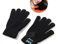 $10 with coupon for CTSmart Pair of Bluetooth Gloves Music / Call / Touch Screen  –  BLACK from GearBest