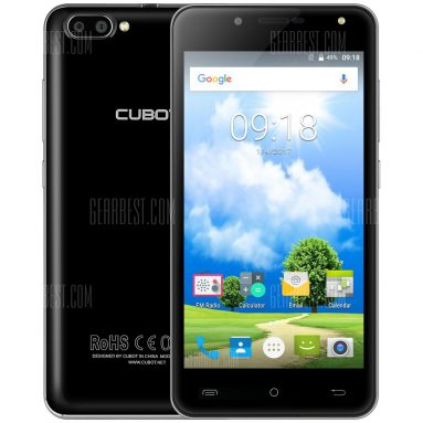 $57 with coupon for CUBOT RAINBOW 2 3G Smartphone  – BLACK from GearBest