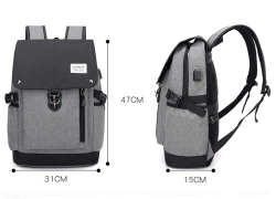 $21 with coupon for Casual Bulk Travel High Junior School Student Bag – DARK GRAY from GearBest