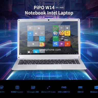 231 € s kuponom za Cenava PIPO W14 14.1 inčni Intel N3450 8GB RAM 128GB EMMC + 256GB SSD 10000mAh Baterija za prijenosnike od BANGGOOD