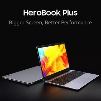 390 € cu cupon pentru [Nou actualizat] Chuwi HeroBook Plus 15.6 inch Intel Gemini Lake J4125 2.7GHz 12GB LPDDR4X 256G SSD 2.0MP Camera 38Wh Battery Notebook from BANGGOOD