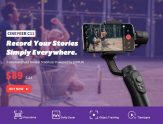 $79 with coupon for Cinepeer C11 3-axis Smartphone Handheld Gimbal Stabilizer Powered by ZHIYUN Dolly Zoom Panorama – EU UK WAREHOUSE from GEARBEST