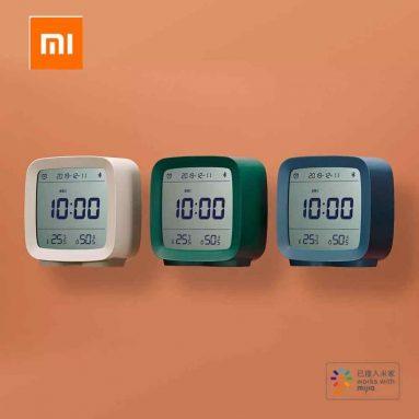 € 11 con coupon per ClearGrass CGD1 Mijia APP Control Bluetooth 5.0 Termometro igrometro Schermo LCD Sveglia notturna regolabile da Xiaomi Youpin - Bianco da BANGGOOD