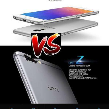 מי יכול להיות המנצח בין החדש Umi Z ו Meizu Pro 6!