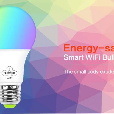 $8 with coupon for Colorful Smart WiFi Bulb Support Alexa / Google Voice Control for Home – WHITE from GearBest