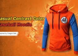 $12 with coupon for Contrast Color Baseball Casual Hoddie for Men from GearBest
