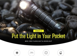 €18 with coupon for Convoy H1 CREE XML2 Multifunctional Flashlight Head Light – Black Natural White 4200k from GEARBEST