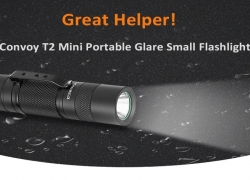 $9 with coupon for Convoy T2 Mini Glare Small Flashlight – BLACK 6500K-7000K from Gearbest