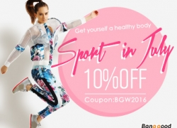10% OFF for Sports Clothes from BANGGOOD TECHNOLOGY CO., LIMITED