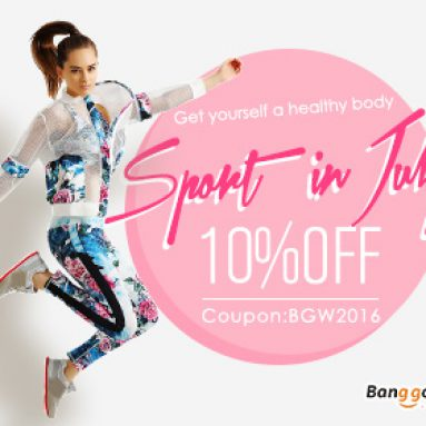 10% OFF for sports klær fra BANGGOOD TECHNOLOGY CO., LIMITED
