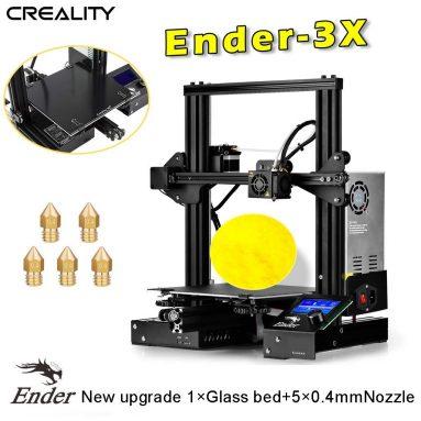 € 127 med kupong for Creality 3D Ender 3X oppgradert DIY 3D Printer Kit med høy presisjon fra TYSKLAND lager TOMTOP