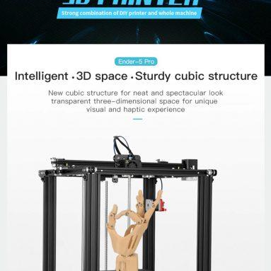 311 EUR s kupónem na 3D tiskárnu Creality 5D High Precision Ender-3 Pro NĚMECKO WAREHOUSE od TOMTOP