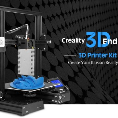$199 with coupon for Creality3D Ender – 3X ( Ender – 3 Upgraded Version ) 3D Printer with Tempered Glass Bed + 5pcs 0.4mm Nozzles – Black EU Plug / With Glass Bed + 5 x Nozzle from GEARBEST