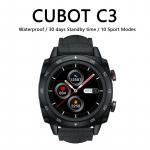 30 € med kupong för Cubot C3 Smart Watch Sport Heart Rate Sleep Monitor 5ATM WaterProof Touch Fitness Tracker Smart Watch för män kvinnor Android iOS - Svart från GEARBEST