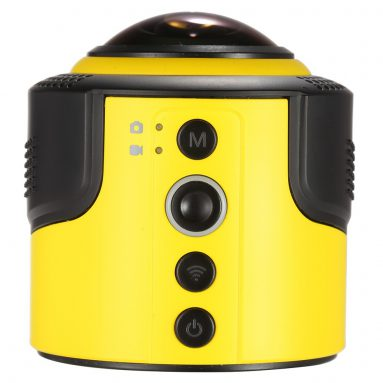 25% OFF Detu 360 Degree Panorama Action Camera with Wifi from TOMTOP Technology Co., Ltd