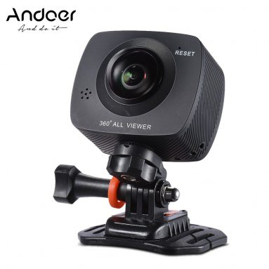 50% OFF Andoer Dual-lens 360 Degree Panoramic Sports Action VR Camera w/ Free Shipping from TOMTOP Technology Co., Ltd