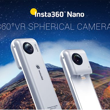 78% off Insta 360 Degree Nano Dual 4K lens VR Video Panoramic Camera,limited offer $67.99 from TOMTOP Technology Co., Ltd