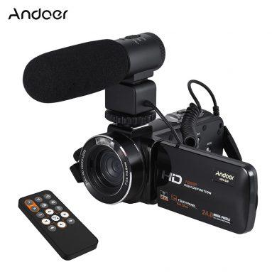 $ 8 OFF Andoer HDV-Z20 1080P Full HD 24MP WiFi Camera, miễn phí vận chuyển $ 105.75 (Mã: HDVZ8) từ TOMTOP Technology Co., Ltd