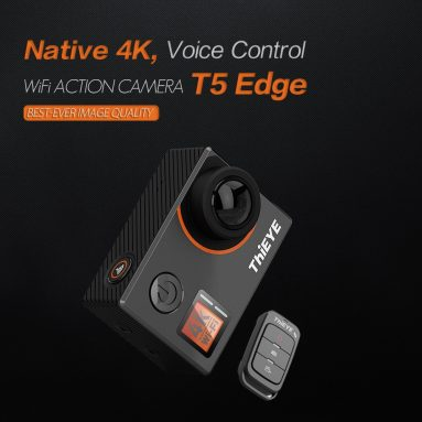 58% OFF ThiEYE T5 Edge 4K WiFi Sports Camera,limited offer $78.99 from TOMTOP Technology Co., Ltd