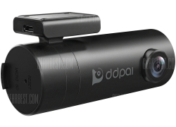 $49 with coupon for DDPai Mini 1080P 30fps 4-Lane Wide-Angle View Lens Dashboard Car Camera Driving Recorder with G-Sensor Loop Recording WDR from Gearbest