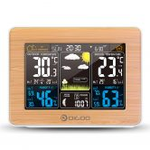 € 15 may kupon para sa DIGOO DG-EX002 Wood Grain Kulay ng Screen Weather Station HD Kulay ng Screen Panlabas Indoor Thermometer Hygrometer Temperatura Alinsangan Pagtataya ng Panahon Taya ng Panahon Moon Phase Araw-araw na Alarm Clock na may Snooze Function - Wood butil mula sa BANGGOOD