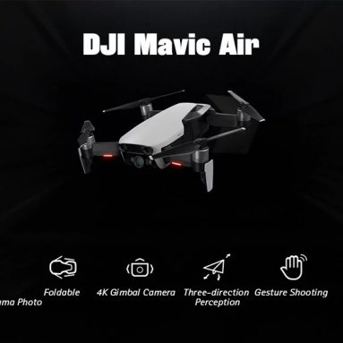 $1059 with coupon for DJI Mavic Air RC Drone 32MP Spherical Panorama Photo – WHITE FLY MORE COMBO/EU PLUG from GearBest