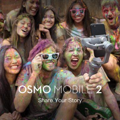 € DJI OSMO 59 Mobil 2 El Gimbal Sabitleyici için kuponlu 2 € Aktif Parça Motionlapse Zoom Kontrolü BANGGOOD'dan Smartphone için