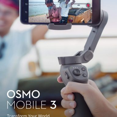 €123 with coupon for DJI Osmo Mobile 3 Foldable Active Track 3.0 Handheld Gimbal Portable Stabilizer Gesture Control Vlog Story Mode for Smartphones – Osmo mobile 3 combo from BANGGOOD