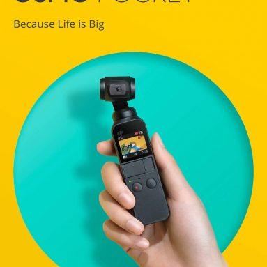$ 299 với phiếu giảm giá cho Máy ảnh DJI Osmo Pocket Gimbal PTZ 4K 60fps Chụp thông minh - Phiên bản CN đen từ GEARBEST