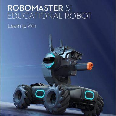 € 504 με κουπόνι για DJI Robomaster S1 DIAMETER STEAM 4WD Έγχρωμο HD FPV Έλεγχος APP Έξυπνο εκπαιδευτικό ρομπότ με λειτουργίες AI Υποστήριξη ξυστό 3.0 Πρόγραμμα Python από το BANGGOOD