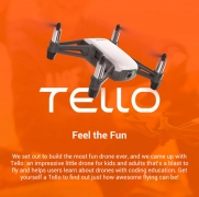 $122 with coupon for DJI Ryze Tello RC Drone HD 5MP WiFi FPV – WHITE EU PLUG 3 BATTERIES from GearBest