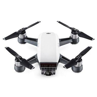 $ 383 z kuponem do DJI Spark Mini RC Selfie Drone - BNF WHITE od GearBest