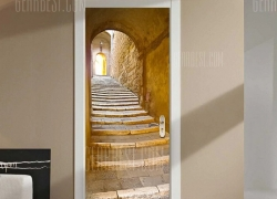 $16 flash sale for DM016 3D European Stone Step Door Sticker Ginger from GearBest