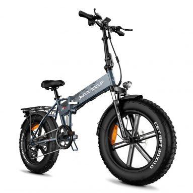 € 1061 med kupong for DOCROOUP 20 -tommers sammenleggbar elektrisk sykkel med blinklys Bremselys fra EU GER -lager TOMTOP