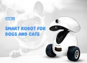 DOGNESS Smart IPet Robot Toy APPリモコンHDビデオクーポン付き210犬と猫用のペット– GEARBESTのホワイトEUプラグ