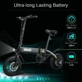 € 434 के लिए कूपन के साथ DOHIKER तह ई-बाइक Collapsible Moped इलेक्ट्रिक साइकिल 250W मोटर 7.5Ah रिचार्जेबल बैटरी के साथ - GEARBEST से ब्लैक ईयू जर्मनी वेयरहाउस