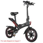 384 € s kuponom za DOHIKER Y1 sklopivi električni bicikl 350W 36V Vodootporni električni bicikl s kotačima od 14 inča 10Ah punjivom baterijom - Crna EU Poljska Skladište od GEARBEST