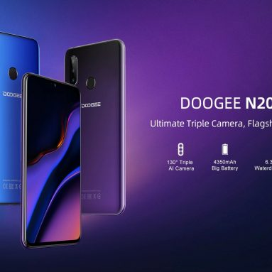 78 يورو مع كوبون لـ DOOGEE N20 Smartphone Mobile Fingerprint 6.3inch FHD Display 16MP Triple Back Camera - Blue Black من GEARBEST