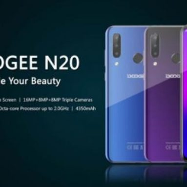 €72 with coupon for DOOGEE N20 6.3 Inch FHD+ Waterdrop Display Android 9.0 4350mAh Triple Rear Cameras 16MP Front Camera 4GB RAM 64GB ROM Helio P23 Octa Core 2GHz 4G Smartphone – EU Version Purple from BANGGOOD