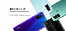 € 84 med kupong for DOOGEE N30 Global Bands 6.55 tommers perforert skjerm Android 10.0 4180mAh 16MP AI Quad Rear Camera 4GB 128GB Helio A25 4G Smartphone fra BANGGOOD