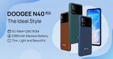 € 127 med kupong för DOOGEE N40 Pro Global Version 6GB 128GB Helio P60 6.52 tum Display Android 11 6380mAh 20MP Quad Camera 24W Snabbladdning Octa Core 4G Smartphone från BANGGOOD
