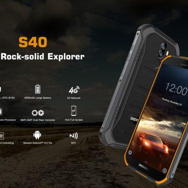 67 € עם קופון עבור DOOGEE S40 5.5 אינץ 'IP68 IP69K עמיד למים NFC אנדרואיד 9.0 4650mAh 3GB 32GB MT6739 4G Smartphone מבית BANGGOOD