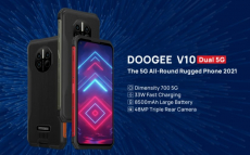 169 € s kuponom za DOOGEE V10 globalne opsege Dual 5G IP68 & IP69K 8GB 128GB Dimensity 700 NFC Android 11 8500mAh 6.39 inča 48MP AI Triple Camera Octa Core Robusni pametni telefon iz BANGGOOD -a