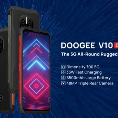 € 169 con cupón para DOOGEE V10 Global Bands Dual 5G IP68 e IP69K 8GB 128GB Dimensity 700 NFC Android 11 8500mAh 6.39 inch 48MP AI Triple Camera Octa Core Rugged Smartphone de BANGGOOD