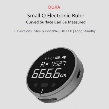 €10 with coupon for Duka Small Q 8 in 1 HD LCD Display Electronic Ruler Ultra Long Battery Life Length Measuring Tool from Xiaomi Youpin from GEARBEST