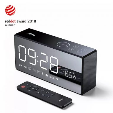 €44 with coupon for Dido X9 Super Bass Mirror Wireless Bluetooth Speaker Remote Control TF Radio Speaker 3D Digital Sound Loudspeaker Alarm Clock – Black from BANGGOOD