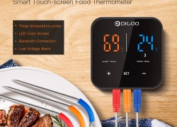 €16 with coupon for Digoo DG FT2303 Three Channels Smart Bluetoorh BBQ Thermometer Kitchen Cooking Thermometer from BANGGOOD