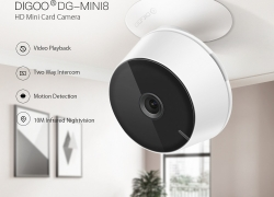 €17 with coupon for Digoo DG-Mini8 HD 2.4G 720P 1080P Wireless WIFI Indoor Security Ip Camera Night Vision Moving Detection Two-Way Audio Webcam Baby Monitor – 1080P from BANGGOOD