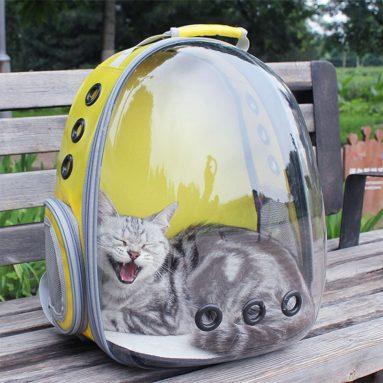 € 21 với phiếu giảm giá cho Dog Cat Trong không gian Capsule Capsule Túi đeo vai thoáng khí Pet Bên ngoài Du lịch Mang theo ba lô từ BANGGOOD